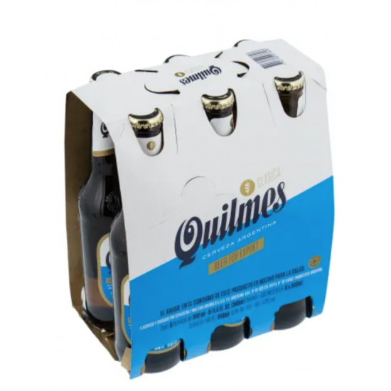 Cerveza Quilmes Argentina 355ml Pack de 6 Botellas