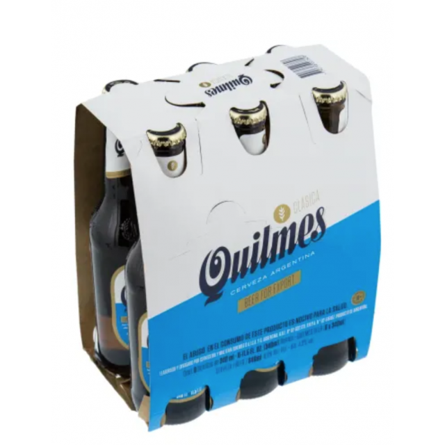 Cerveza Quilmes Argentina 330ml Pack de 6 Botellas