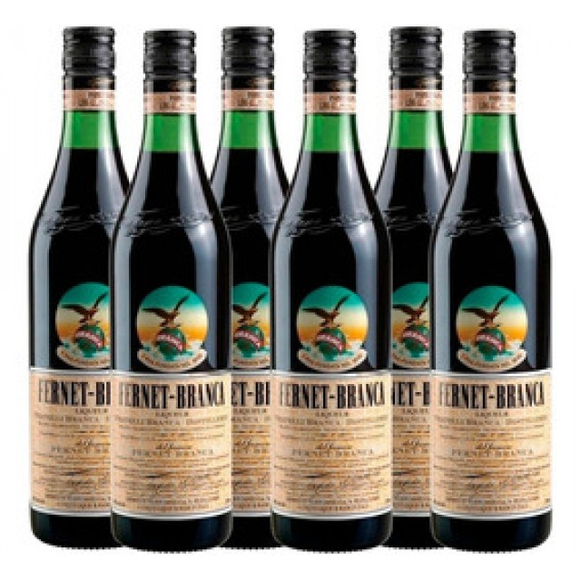 Fernet Branca Argentino Caja por 6 botellas