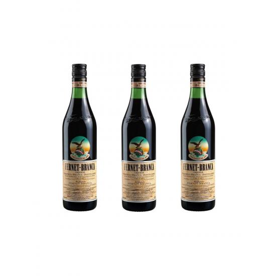 Fernet Branca Italiano Pack 3 Botellas