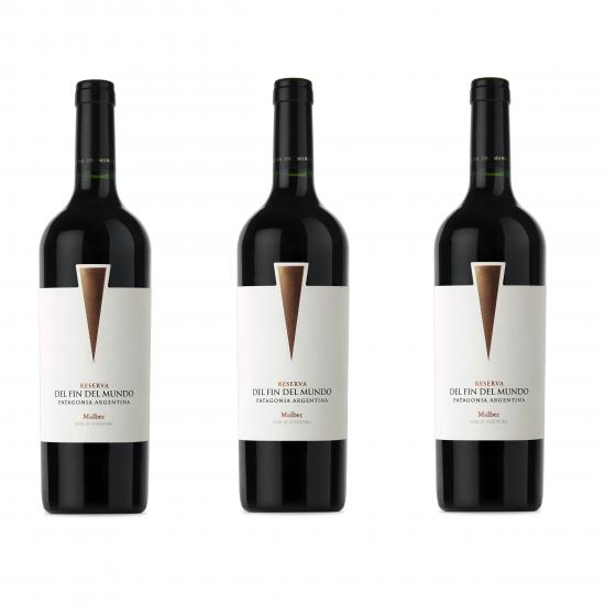 Fin Del Mundo Reserva Malbec Oferta 3 Botellas