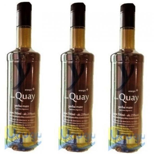 Licor Quay Yerba Mate 700ml Oferta Pack 3 Botellas
