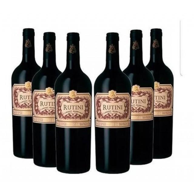 Rutini Cabernet Sauvignon Malbec Vino Argentino en Caja de 6 Botellas
