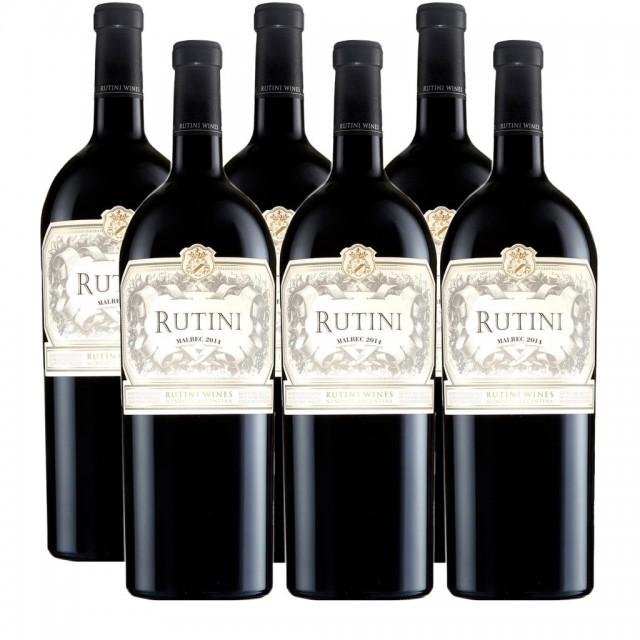 Rutini Malbec Vino Argentino Caja de Madera 6 Botellas