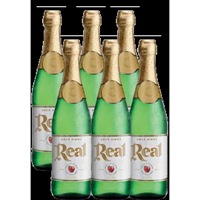 Sidra Real Etiqueta Blanca Argentina Oferta 6 Botellas